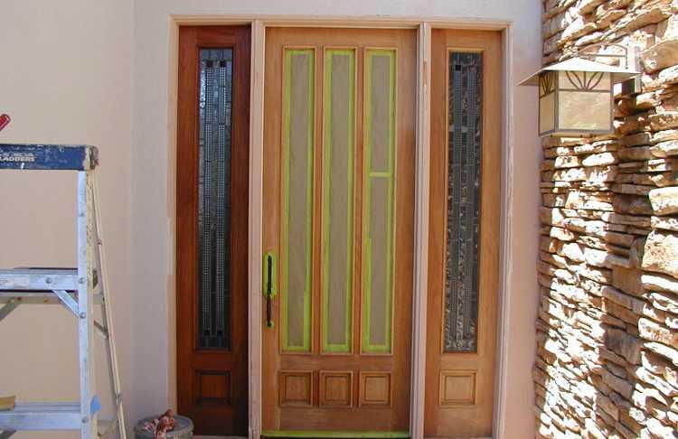 Entry door refinishing