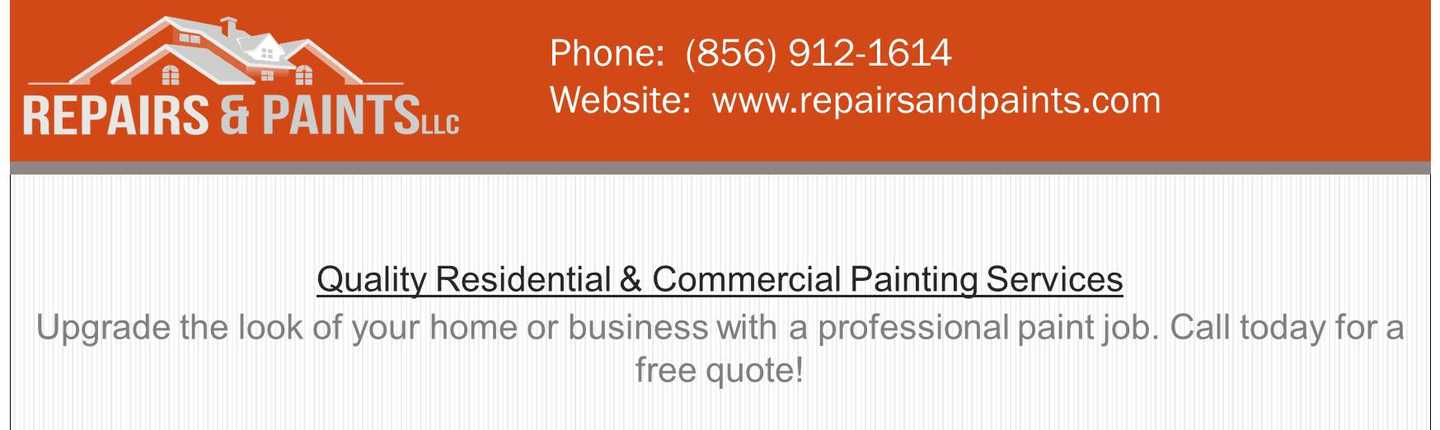 Repairs & Paints LLC header image