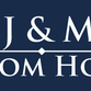 J & M Custom Homes logo