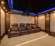 Work by Caveman Home Theaters